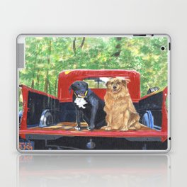 Antique Truck with Dogs Laptop & iPad Skin