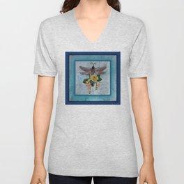 Dragonfly Love by Kathy Morton Stanion Unisex V-Neck