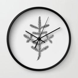 Spruce twig Wall Clock
