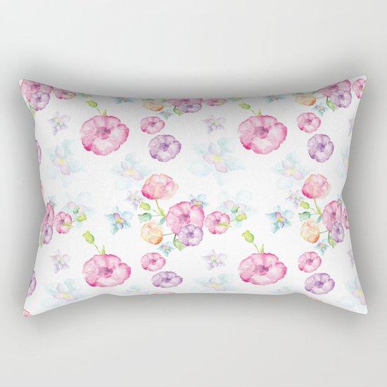 Delicate Floral Pattern 01 Rectangular Pillow