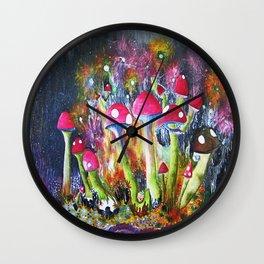 Who loves Mushrooms? Wall Clock
