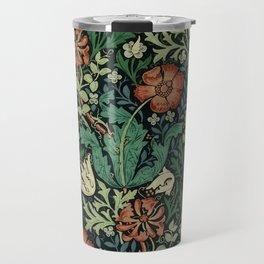 William Morris Compton Floral Art Nouveau Pattern Travel Mug