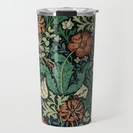 William Morris Compton Floral Art Nouveau Pattern Travel Mug