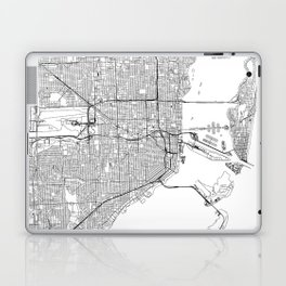 Miami White Map Laptop & iPad Skin
