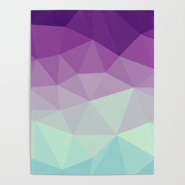 violet and blue polygon Poster