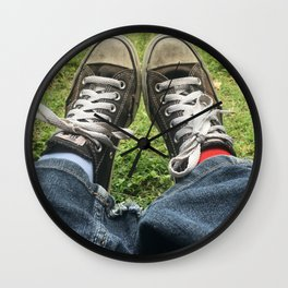 Adventure Shoes Take a Rest Wall Clock