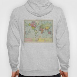 Vintage Political Map of The World (1922) Hoody