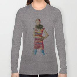 Striped Dress Long Sleeve T-shirt