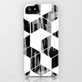 Elegant Black and White Geometric Design iPhone Case