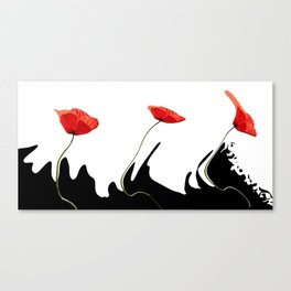Moving poppies Canvas Print