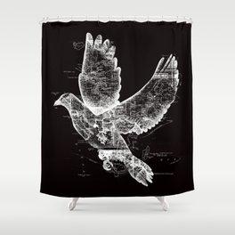 Wanderlust White Shower Curtain