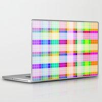 bathroom Laptop & iPad Skins featuring Bathroom Tile Rainbow by Jessica's Illustrationart