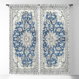 Antique Persian Rug - blue and gray Blackout Curtain