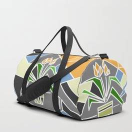 Flowers on window Duffle Bag