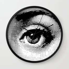 Lina Cavalieri Eye 02 Wall Clock