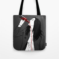 drink Tote Bags featuring DRINK by CoCoCo