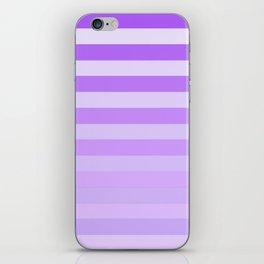 Purple Stripes Fade iPhone Skin