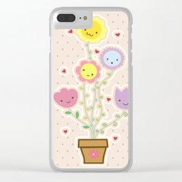 Flowery Clear iPhone Case