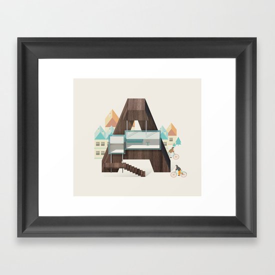 Resort type - Letter A Framed Art Print
