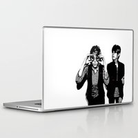 tegan and sara Laptop & iPad Skins featuring Tegan & Tegan & Sara & Sara - Black by c.beanan