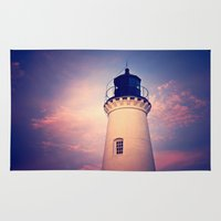 lighthouse Area & Throw Rugs featuring Lighthouse by JMcCool