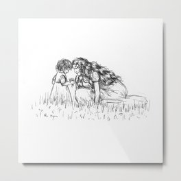 Fantine and Cosette Metal Print