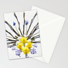 Spring flowers and branches I Stationery Cards