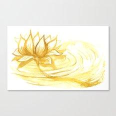 The Golden Lotus Canvas Print