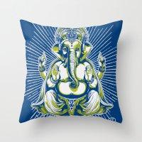 spiritual Throw Pillows featuring Spiritual healer  by Tshirt-Factory