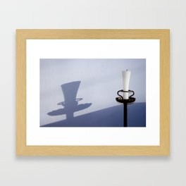 wall_candle Framed Art Print