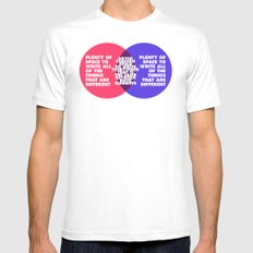The Problem With Venn Diagrams MEDIUM Mens Fitted Tee White