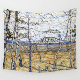 Abraham Manievich Birch Trees Wall Tapestry