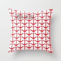 anchors Throw Pillows featuring anchors by Cat Milchard
