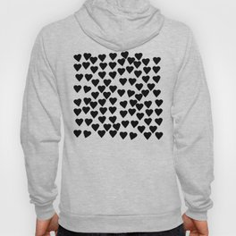 Hearts Black and White Hoody