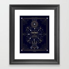 Ad Astra Per Aspera Framed Art Print