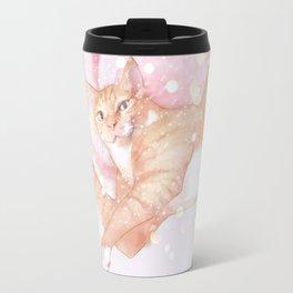 cheese tabby cat Travel Mug