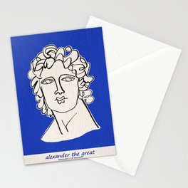 Alexander the Great statue Stationery Cards