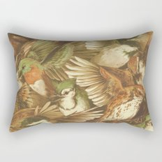 Red-Throated, Black-capped, Spotted, Barred Rectangular Pillow