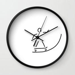 skateboard driver halfpipe Wall Clock