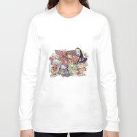 miyazaki Long Sleeve T-shirts featuring Hayao Miyazaki by Kensausage