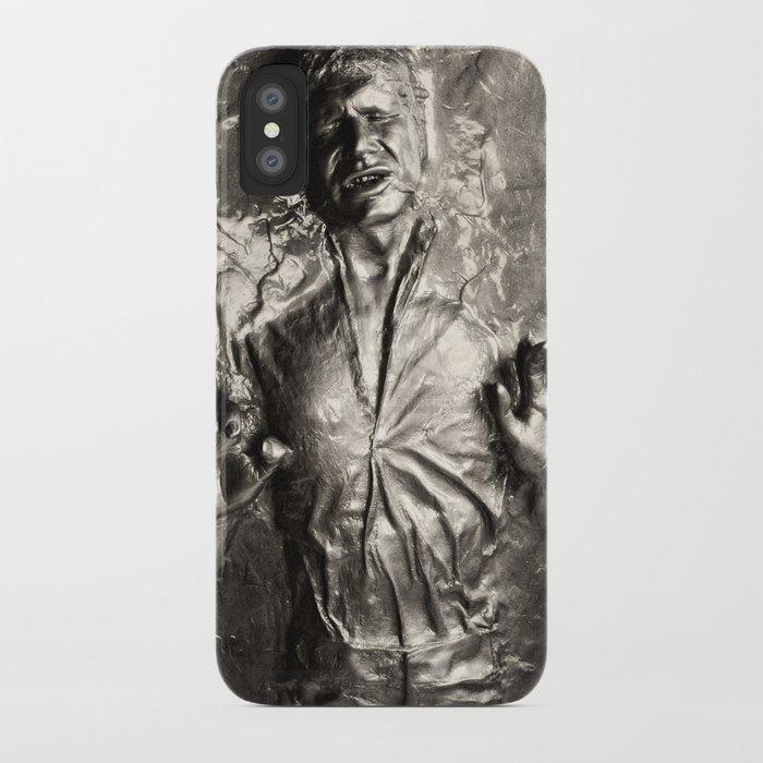 the latest b2c3a 6e8da Han Solo carbonite iPhone Case by rossgilmore