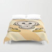 monkey Duvet Covers featuring Monkey by Nir P