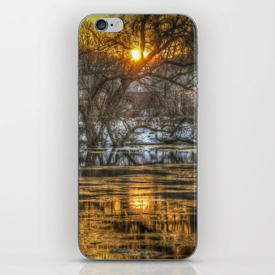Berlin winter sunset iPhone & iPod Skin