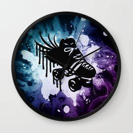 Drip Skate Galaxy Colors Wall Clock
