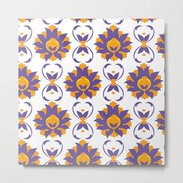 Islamic Illumination purple and orange palette Metal Print
