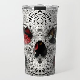 Lace Skull Light Travel Mug