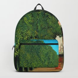 Henri Rousseau - The Avenue in the Park at Saint Cloud Backpack