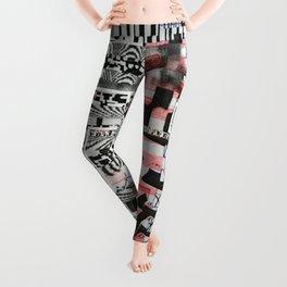 Click-N-Fail (P/D3 Glitch Collage Studies) Leggings