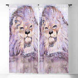 Lion Whimsy Blackout Curtain
