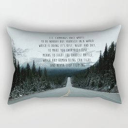 Quote for The Road Rectangular Pillow